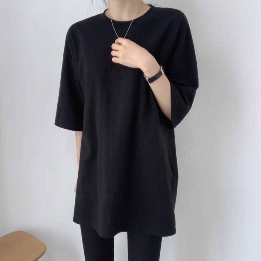 韓国 ファッション トップス Tシャツ カットソー 春 夏 カジュアル PTXJ669  シャーベットカラー オーバーサイズ Tシャツ オルチャン シンプル 定番 セレカジの写真5枚目