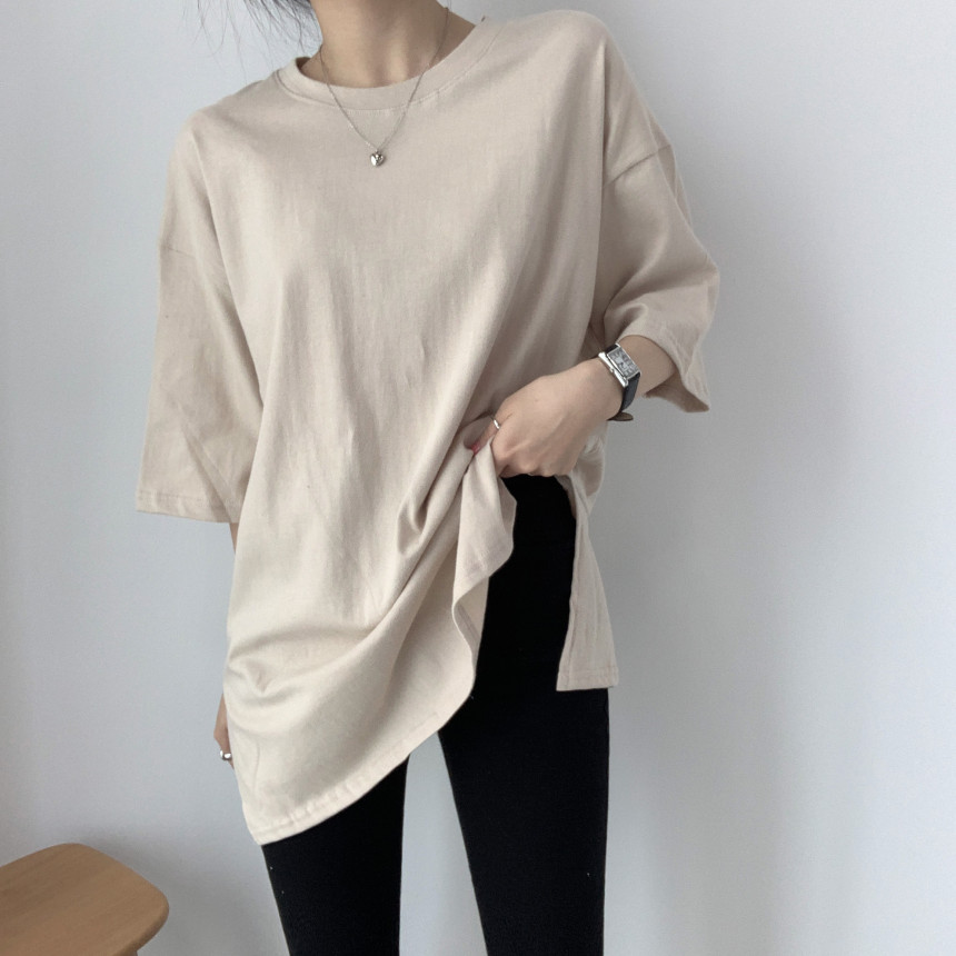 韓国 ファッション トップス Tシャツ カットソー 春 夏 カジュアル PTXJ669  シャーベットカラー オーバーサイズ Tシャツ オルチャン シンプル 定番 セレカジの写真8枚目