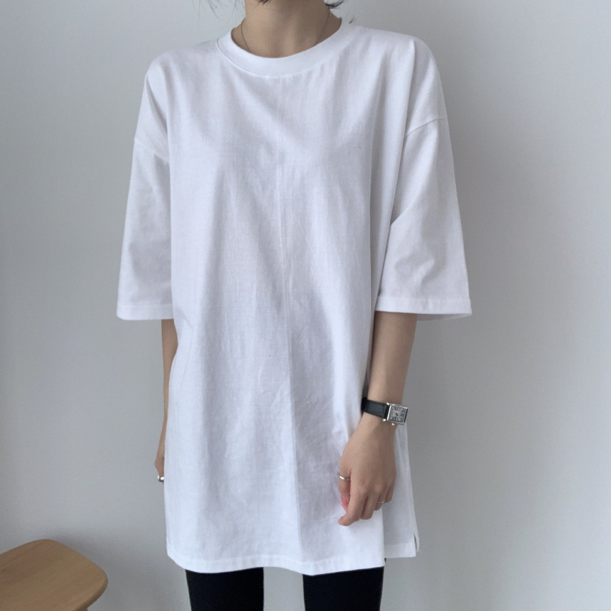 韓国 ファッション トップス Tシャツ カットソー 春 夏 カジュアル PTXJ669  シャーベットカラー オーバーサイズ Tシャツ オルチャン シンプル 定番 セレカジの写真10枚目