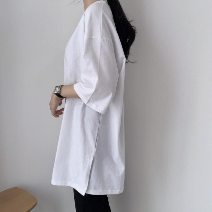 韓国 ファッション トップス Tシャツ カットソー 春 夏 カジュアル PTXJ669  シャーベットカラー オーバーサイズ Tシャツ オルチャン シンプル 定番 セレカジの写真11枚目