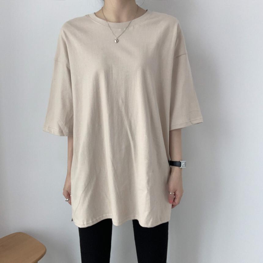 韓国 ファッション トップス Tシャツ カットソー 春 夏 カジュアル PTXJ669  シャーベットカラー オーバーサイズ Tシャツ オルチャン シンプル 定番 セレカジの写真13枚目
