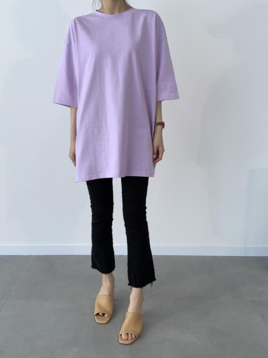 韓国 ファッション トップス Tシャツ カットソー 春 夏 カジュアル PTXJ669  シャーベットカラー オーバーサイズ Tシャツ オルチャン シンプル 定番 セレカジの写真15枚目
