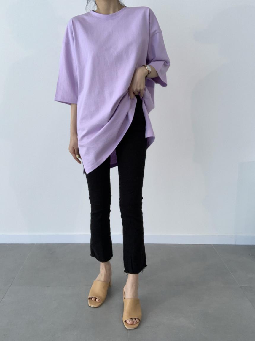 韓国 ファッション トップス Tシャツ カットソー 春 夏 カジュアル PTXJ669  シャーベットカラー オーバーサイズ Tシャツ オルチャン シンプル 定番 セレカジの写真16枚目
