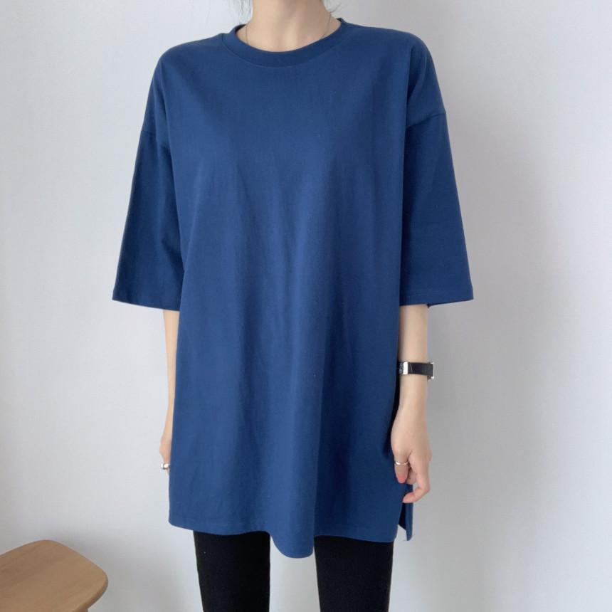 韓国 ファッション トップス Tシャツ カットソー 春 夏 カジュアル PTXJ669  シャーベットカラー オーバーサイズ Tシャツ オルチャン シンプル 定番 セレカジの写真18枚目
