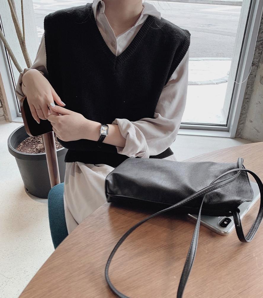 韓国 ファッション セットアップ 春 夏 秋 カジュアル PTXJ760  オーバーサイズ シャツワンピ ベスト ゆったり オルチャン シンプル 定番 セレカジの写真3枚目