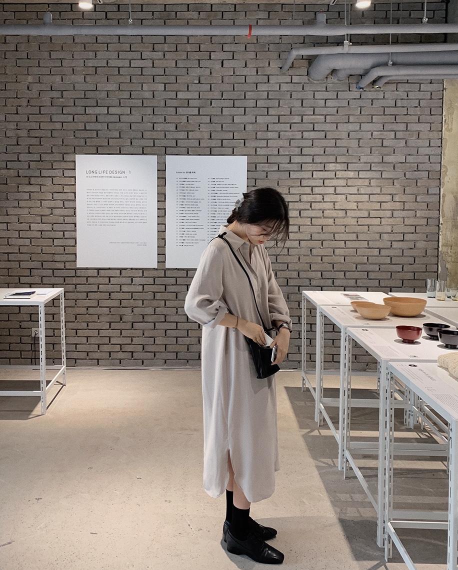 韓国 ファッション セットアップ 春 夏 秋 カジュアル PTXJ760  オーバーサイズ シャツワンピ ベスト ゆったり オルチャン シンプル 定番 セレカジの写真6枚目