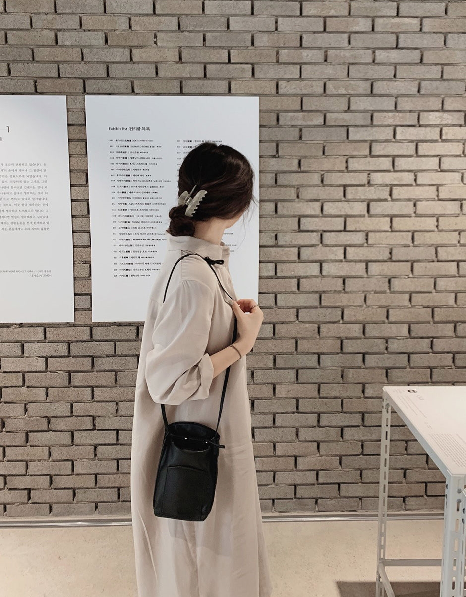 韓国 ファッション セットアップ 春 夏 秋 カジュアル PTXJ760  オーバーサイズ シャツワンピ ベスト ゆったり オルチャン シンプル 定番 セレカジの写真11枚目