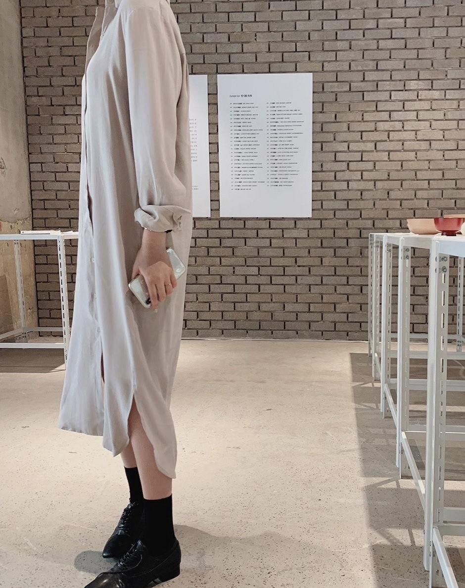 韓国 ファッション セットアップ 春 夏 秋 カジュアル PTXJ760  オーバーサイズ シャツワンピ ベスト ゆったり オルチャン シンプル 定番 セレカジの写真13枚目