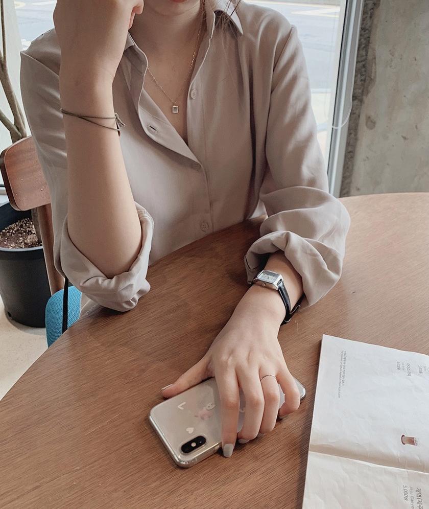 韓国 ファッション セットアップ 春 夏 秋 カジュアル PTXJ760  オーバーサイズ シャツワンピ ベスト ゆったり オルチャン シンプル 定番 セレカジの写真15枚目