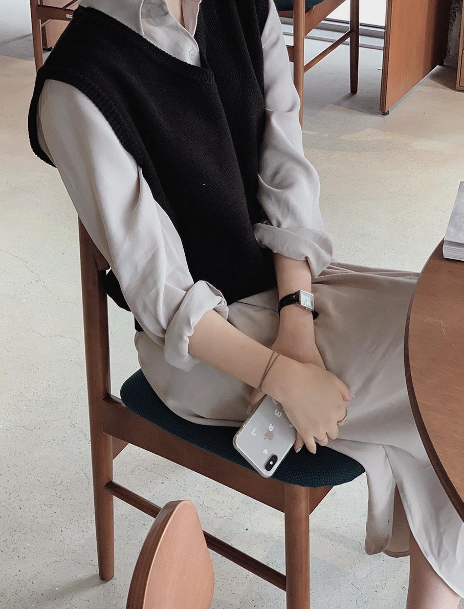 韓国 ファッション セットアップ 春 夏 秋 カジュアル PTXJ760  オーバーサイズ シャツワンピ ベスト ゆったり オルチャン シンプル 定番 セレカジの写真19枚目
