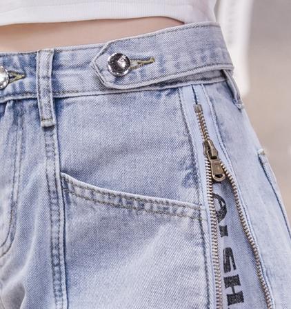 韓国 ファッション パンツ ショート ボトムス 春 夏 秋 カジュアル PTXJ787  ハイライズ ジップ ロゴ ショーパン オルチャン シンプル 定番 セレカジの写真16枚目