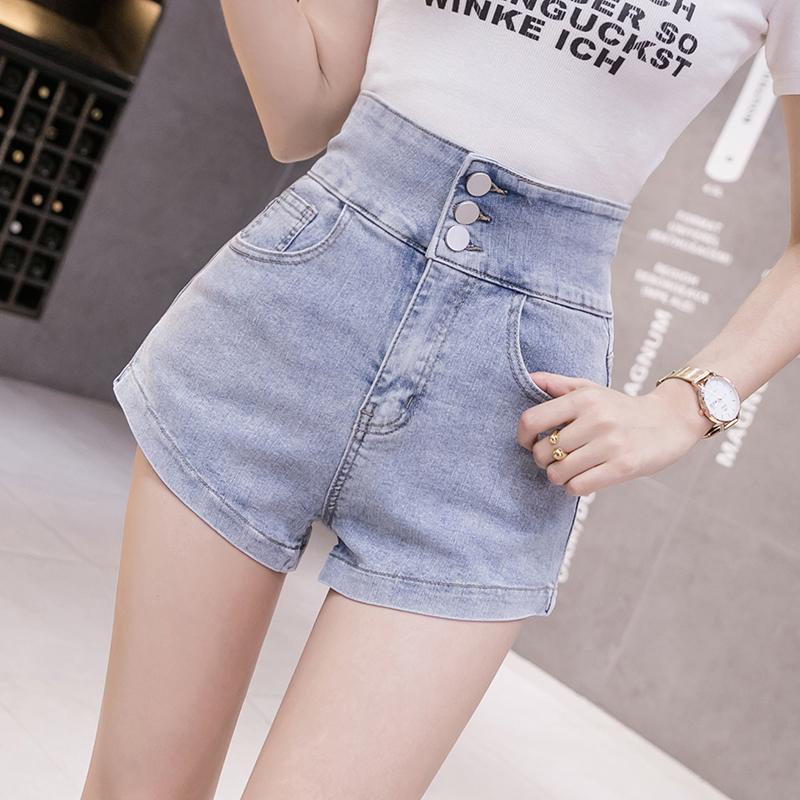 韓国 ファッション パンツ ショート ボトムス 春 夏 カジュアル PTXJ801  チェーン バックコンシャス ハイウエスト オルチャン シンプル 定番 セレカジの写真3枚目