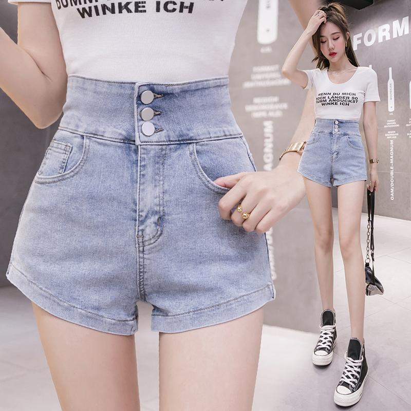 韓国 ファッション パンツ ショート ボトムス 春 夏 カジュアル PTXJ801  チェーン バックコンシャス ハイウエスト オルチャン シンプル 定番 セレカジの写真4枚目