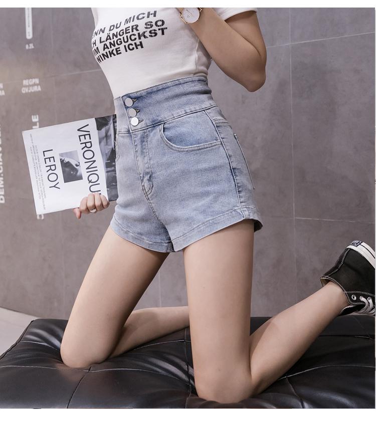 韓国 ファッション パンツ ショート ボトムス 春 夏 カジュアル PTXJ801  チェーン バックコンシャス ハイウエスト オルチャン シンプル 定番 セレカジの写真11枚目