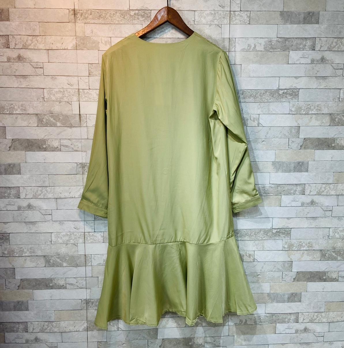韓国 ファッション ワンピース 春 夏 カジュアル PTXJ828  シアー ノーカラー オーバーサイズ マーメイド オルチャン シンプル 定番 セレカジの写真6枚目