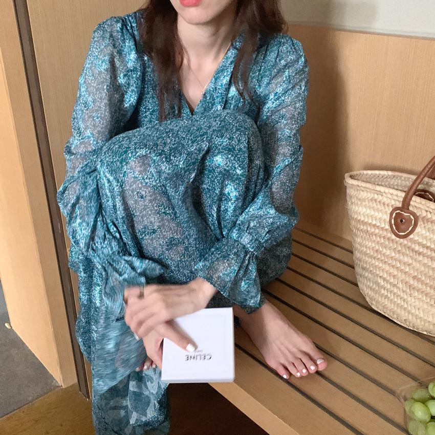 韓国 ファッション ワンピース 春 夏 カジュアル PTXJ993  カシュクール ドレープ シアー 背中見せ オルチャン シンプル 定番 セレカジの写真9枚目