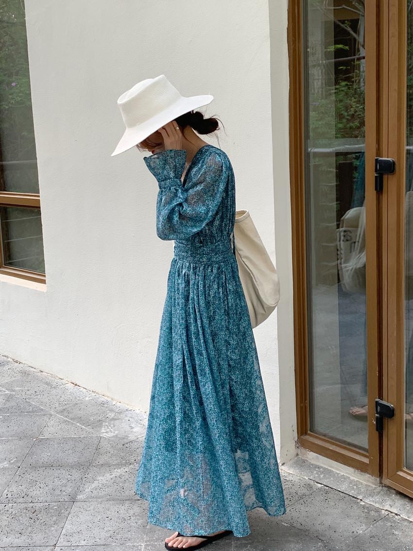 韓国 ファッション ワンピース 春 夏 カジュアル PTXJ993  カシュクール ドレープ シアー 背中見せ オルチャン シンプル 定番 セレカジの写真17枚目