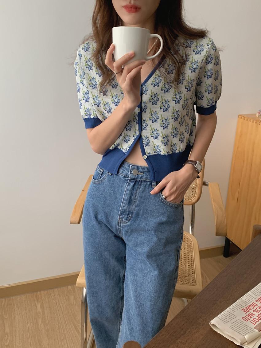 韓国 ファッション トップス カーディガン 春 夏 カジュアル PTXK001  渋色 サマーニット リブ ショート 肌見せ オルチャン シンプル 定番 セレカジの写真11枚目