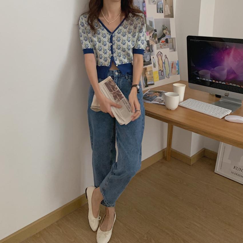 韓国 ファッション トップス カーディガン 春 夏 カジュアル PTXK001  渋色 サマーニット リブ ショート 肌見せ オルチャン シンプル 定番 セレカジの写真12枚目