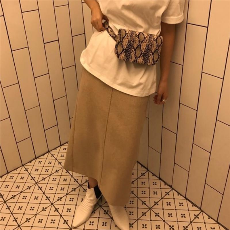 韓国 ファッション ショルダー ポシェット 春 夏 カジュアル PTXK156  ウエストポーチ 型押し ショルダーバッグ オルチャン シンプル 定番 セレカジの写真16枚目