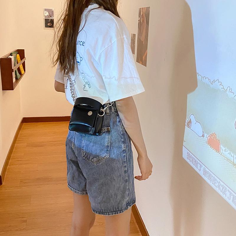 韓国 ファッション ショルダー ポシェット 春 夏 カジュアル PTXK173  チェーン コードバン風 斜め掛け ミニバッグ オルチャン シンプル 定番 セレカジの写真18枚目
