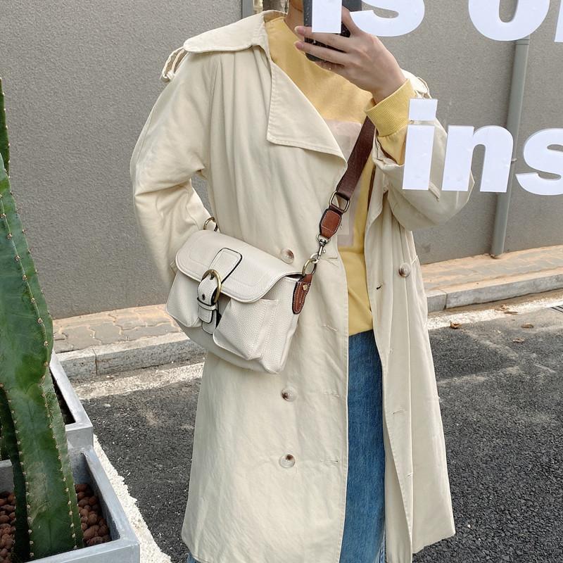 韓国 ファッション ショルダー ポシェット 春 夏 カジュアル PTXK176  斜め掛け 脇下 2way ショルダー バイカラー オルチャン シンプル 定番 セレカジの写真13枚目