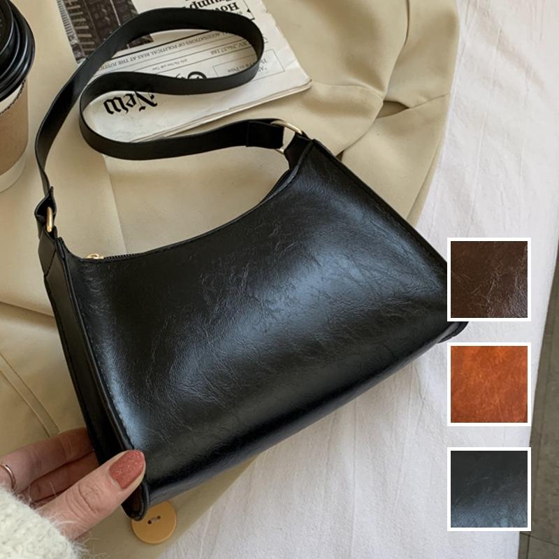 韓国 ファッション ショルダー ポシェット 春 夏 カジュアル PTXK181  表革風 シック ベーシック エレガント オルチャン シンプル 定番 セレカジの写真1枚目