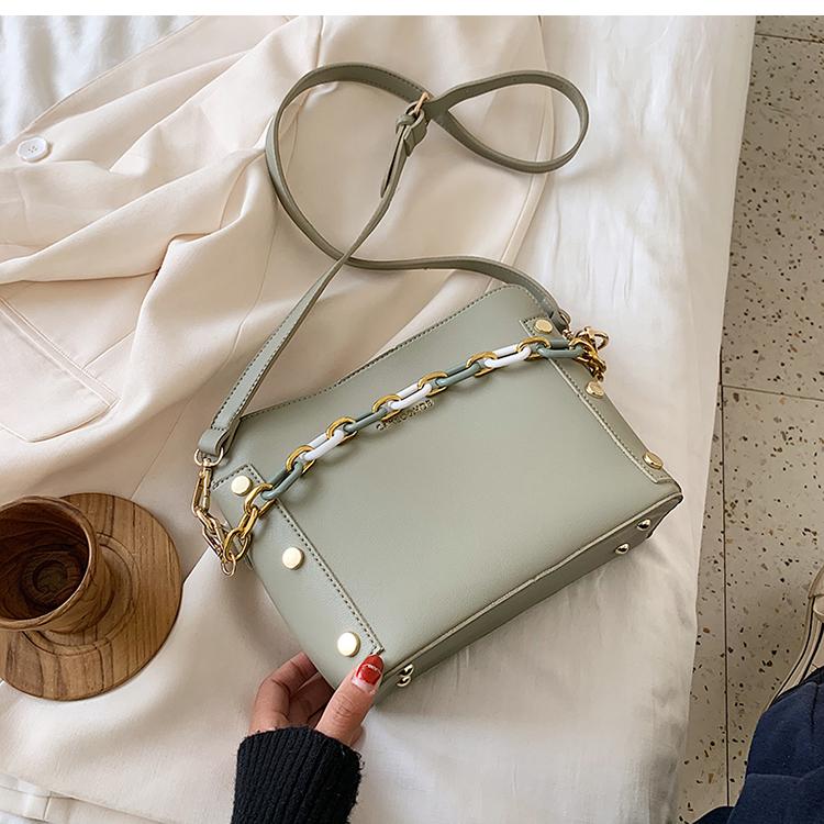韓国 ファッション ショルダー ポシェット 春 夏 カジュアル PTXK183  チェーン風 バケツ型 バッグインバッグ 淡色 オルチャン シンプル 定番 セレカジの写真17枚目