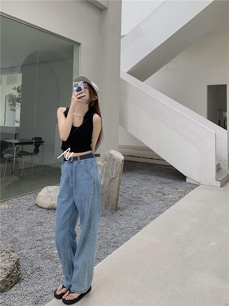 韓国 ファッション トップス Tシャツ カットソー 春 夏 カジュアル PTXK269  リブ 襟付き ノースリーブ 肌見せ キュート オルチャン シンプル 定番 セレカジの写真20枚目