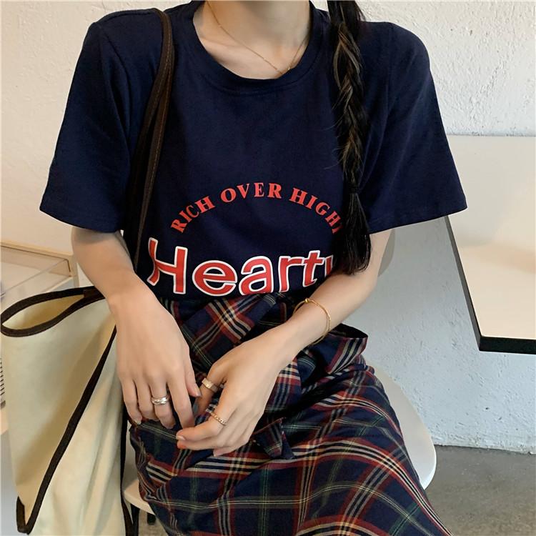 韓国 ファッション セットアップ 春 夏 カジュアル PTXK280  ロゴ Tシャツ ウエストマーク タイト スリット オルチャン シンプル 定番 セレカジの写真13枚目