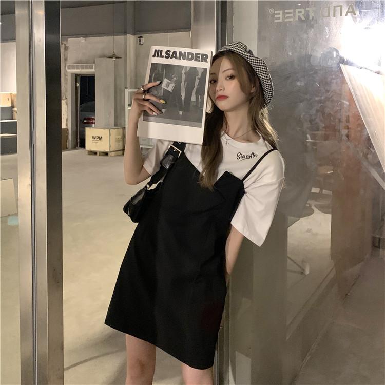 韓国 ファッション セットアップ 春 夏 カジュアル PTXK296  オーバーサイズ Tシャツ アシメ ゆったり オルチャン シンプル 定番 セレカジの写真5枚目