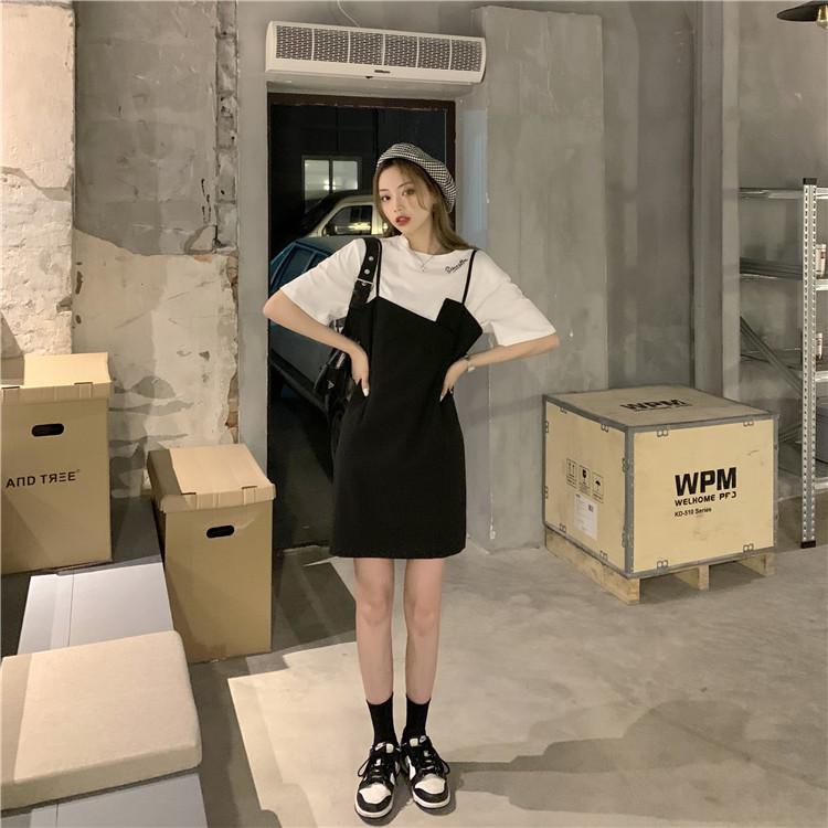 韓国 ファッション セットアップ 春 夏 カジュアル PTXK296  オーバーサイズ Tシャツ アシメ ゆったり オルチャン シンプル 定番 セレカジの写真14枚目