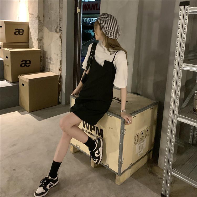 韓国 ファッション セットアップ 春 夏 カジュアル PTXK296  オーバーサイズ Tシャツ アシメ ゆったり オルチャン シンプル 定番 セレカジの写真15枚目