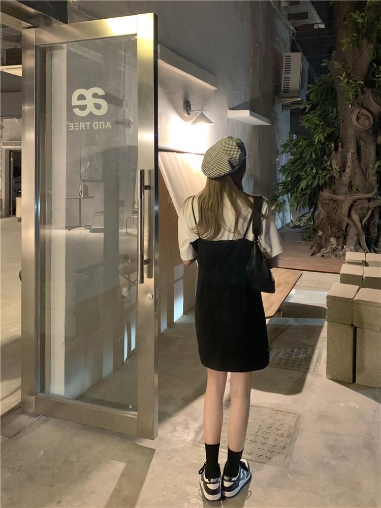 韓国 ファッション セットアップ 春 夏 カジュアル PTXK296  オーバーサイズ Tシャツ アシメ ゆったり オルチャン シンプル 定番 セレカジの写真20枚目