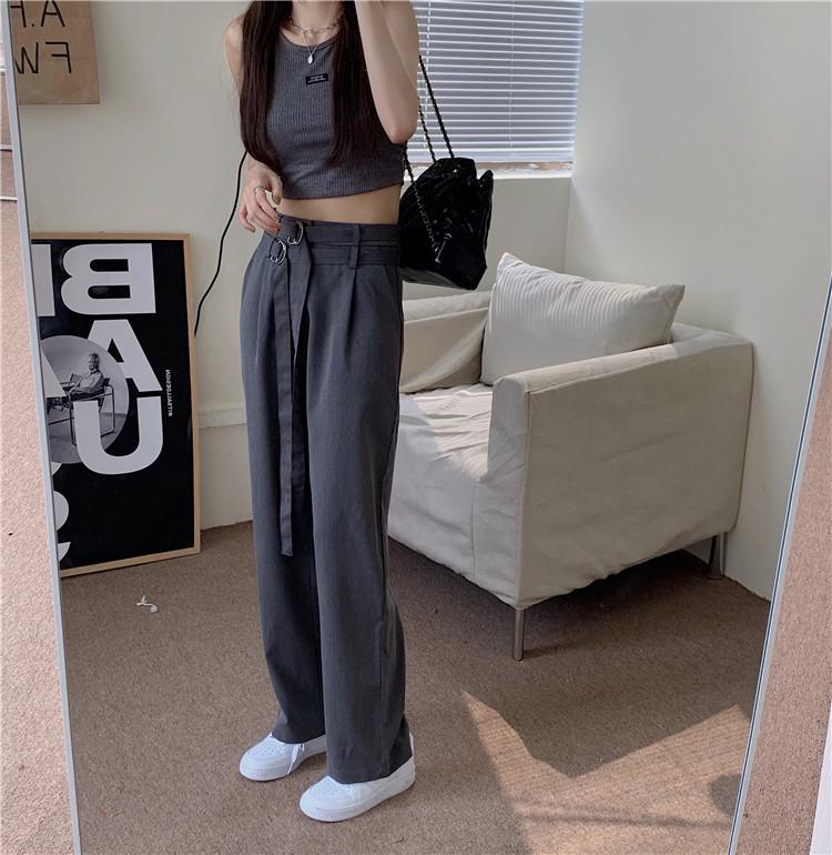韓国 ファッション セットアップ 春 夏 カジュアル PTXK298  タンクトップ ウエストマーク バギーパンツ オルチャン シンプル 定番 セレカジの写真11枚目