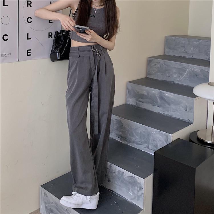韓国 ファッション セットアップ 春 夏 カジュアル PTXK298  タンクトップ ウエストマーク バギーパンツ オルチャン シンプル 定番 セレカジの写真14枚目