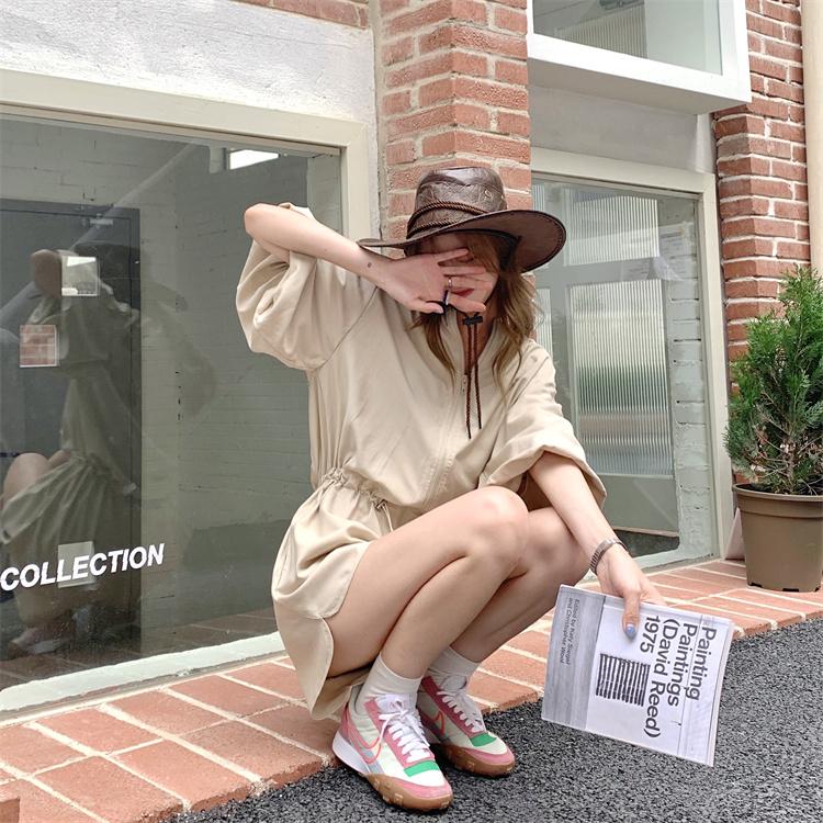 韓国 ファッション オールインワン サロペット 春 夏 カジュアル PTXK330  ボリューム袖 ウエストマーク ショーパン オルチャン シンプル 定番 セレカジの写真11枚目