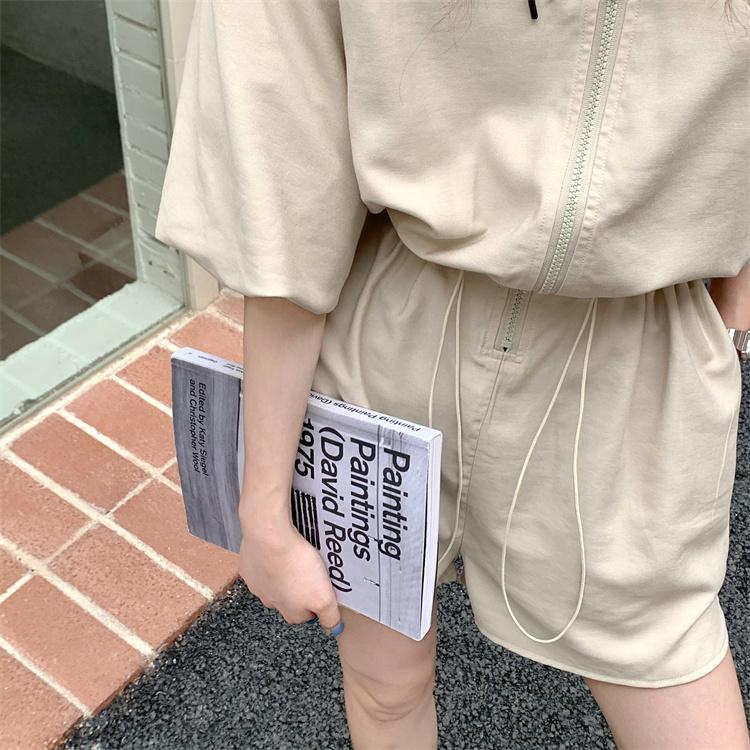 韓国 ファッション オールインワン サロペット 春 夏 カジュアル PTXK330  ボリューム袖 ウエストマーク ショーパン オルチャン シンプル 定番 セレカジの写真13枚目