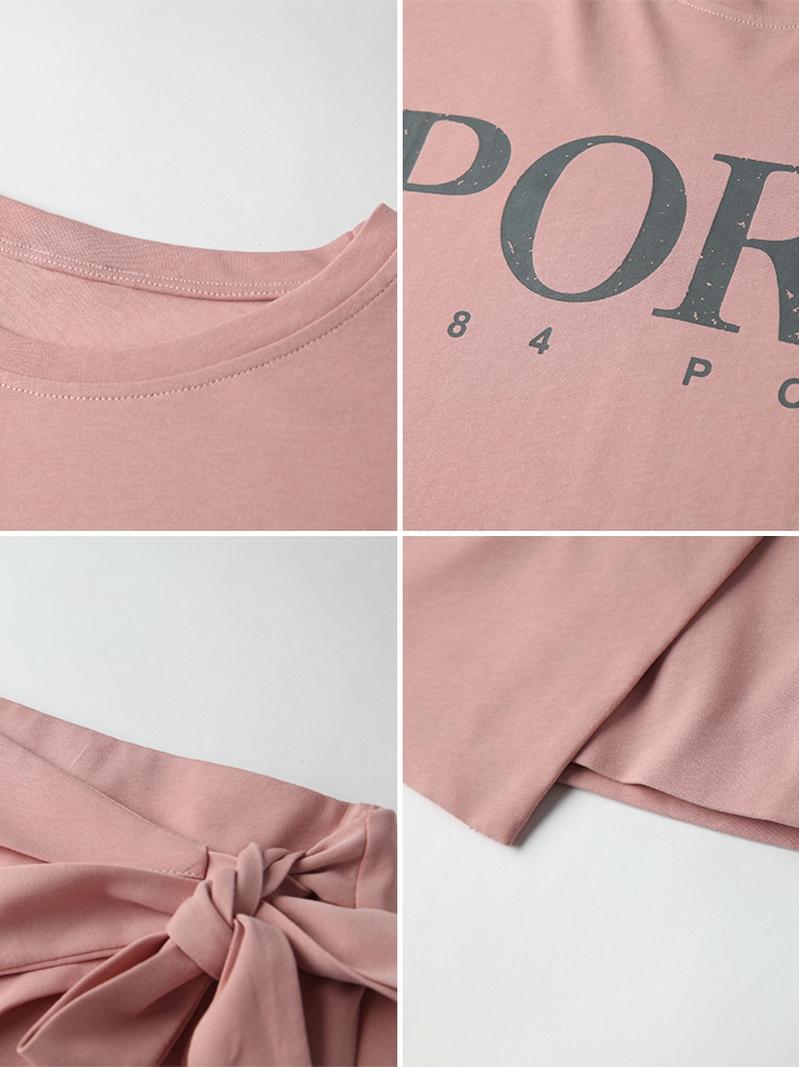 韓国 ファッション セットアップ 春 夏 カジュアル PTXK364  オーバーサイズ ロゴTシャツ ラップ風 ミニ オルチャン シンプル 定番 セレカジの写真10枚目
