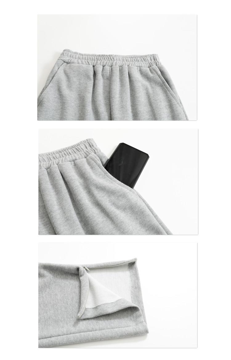 韓国 ファッション パンツ ボトムス 春 夏 秋 カジュアル PTXK406  スリット ワイドパンツ ジャージ スウェット オルチャン シンプル 定番 セレカジの写真16枚目