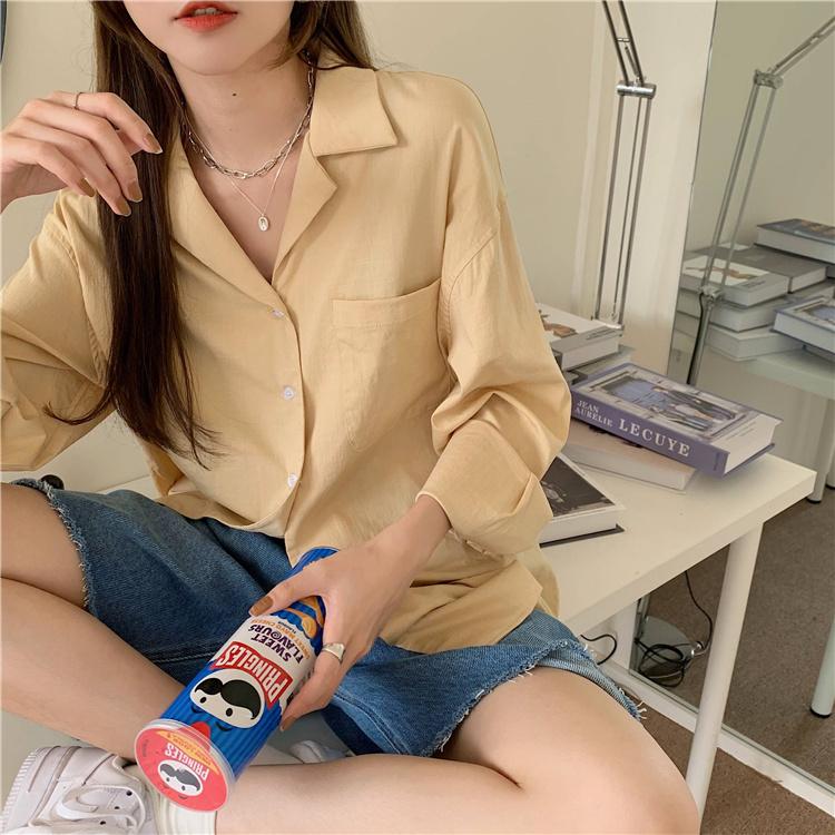 韓国 ファッション セットアップ 春 夏 カジュアル PTXK500  カットオフデニム ハーフパンツ オーバーサイズ オルチャン シンプル 定番 セレカジの写真10枚目