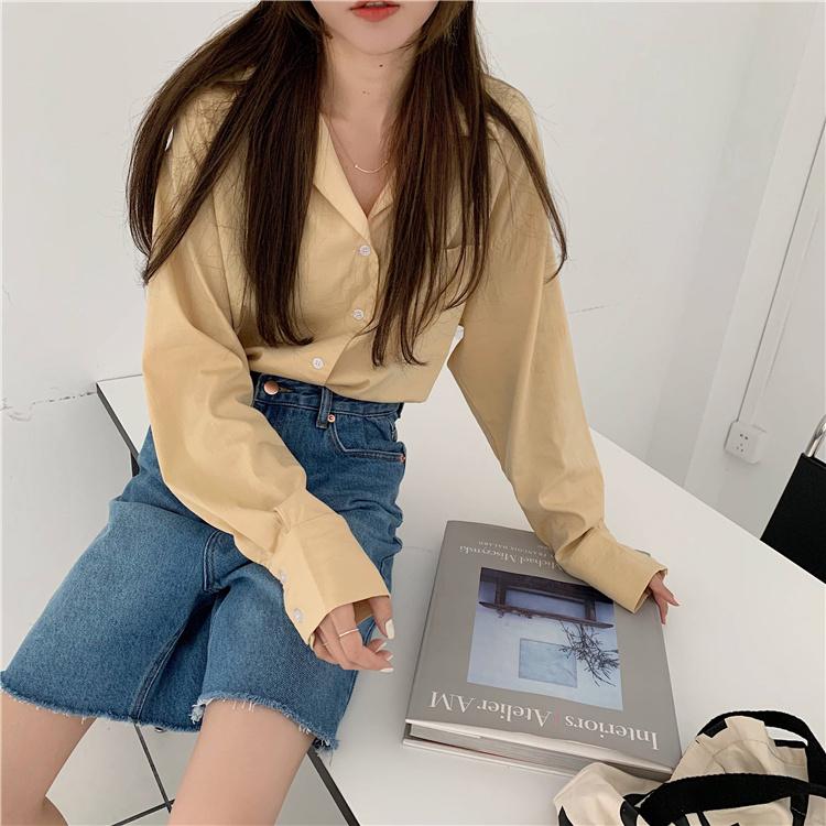 韓国 ファッション セットアップ 春 夏 カジュアル PTXK500  カットオフデニム ハーフパンツ オーバーサイズ オルチャン シンプル 定番 セレカジの写真14枚目