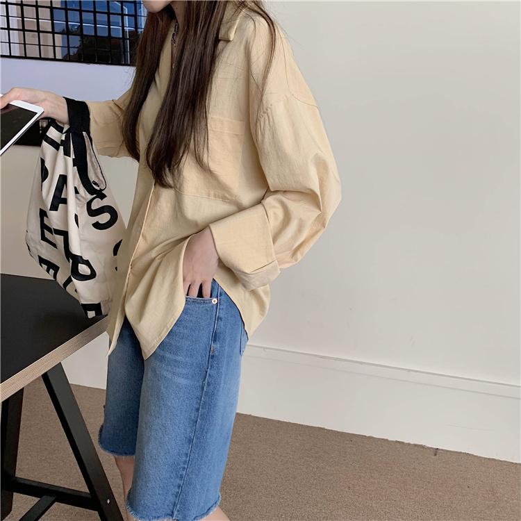 韓国 ファッション セットアップ 春 夏 カジュアル PTXK500  カットオフデニム ハーフパンツ オーバーサイズ オルチャン シンプル 定番 セレカジの写真16枚目