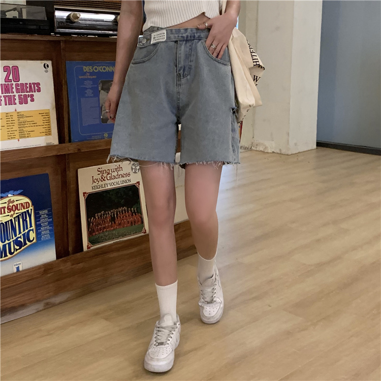 韓国 ファッション パンツ ショート ボトムス 春 夏 カジュアル PTXK553  カットオフデニム ダメージ アシメ ゆったり オルチャン シンプル 定番 セレカジの写真12枚目
