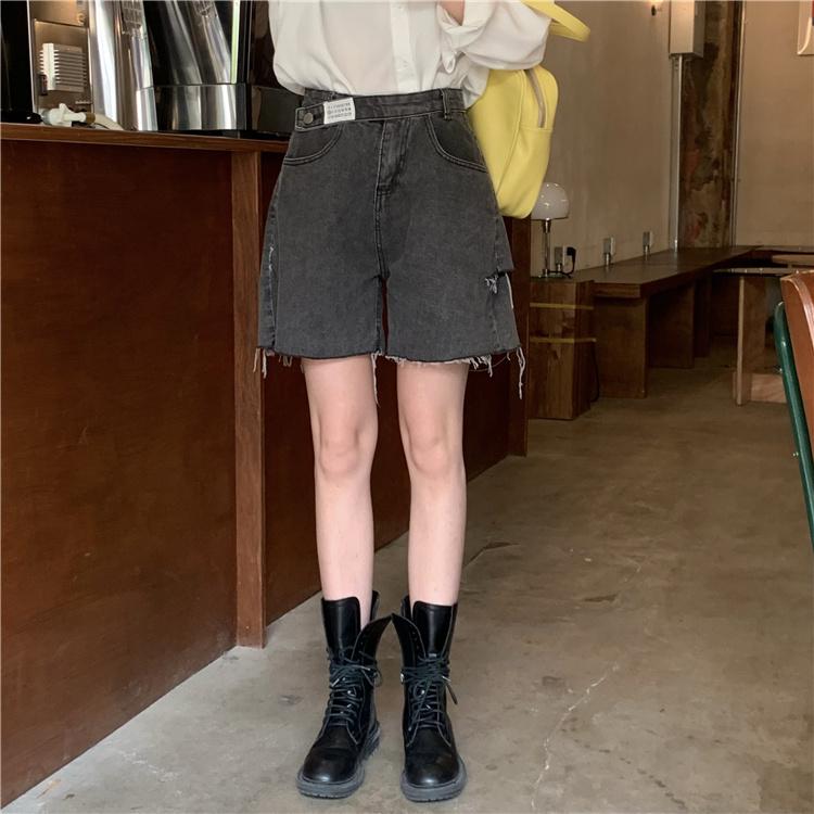 韓国 ファッション パンツ ショート ボトムス 春 夏 カジュアル PTXK553  カットオフデニム ダメージ アシメ ゆったり オルチャン シンプル 定番 セレカジの写真17枚目