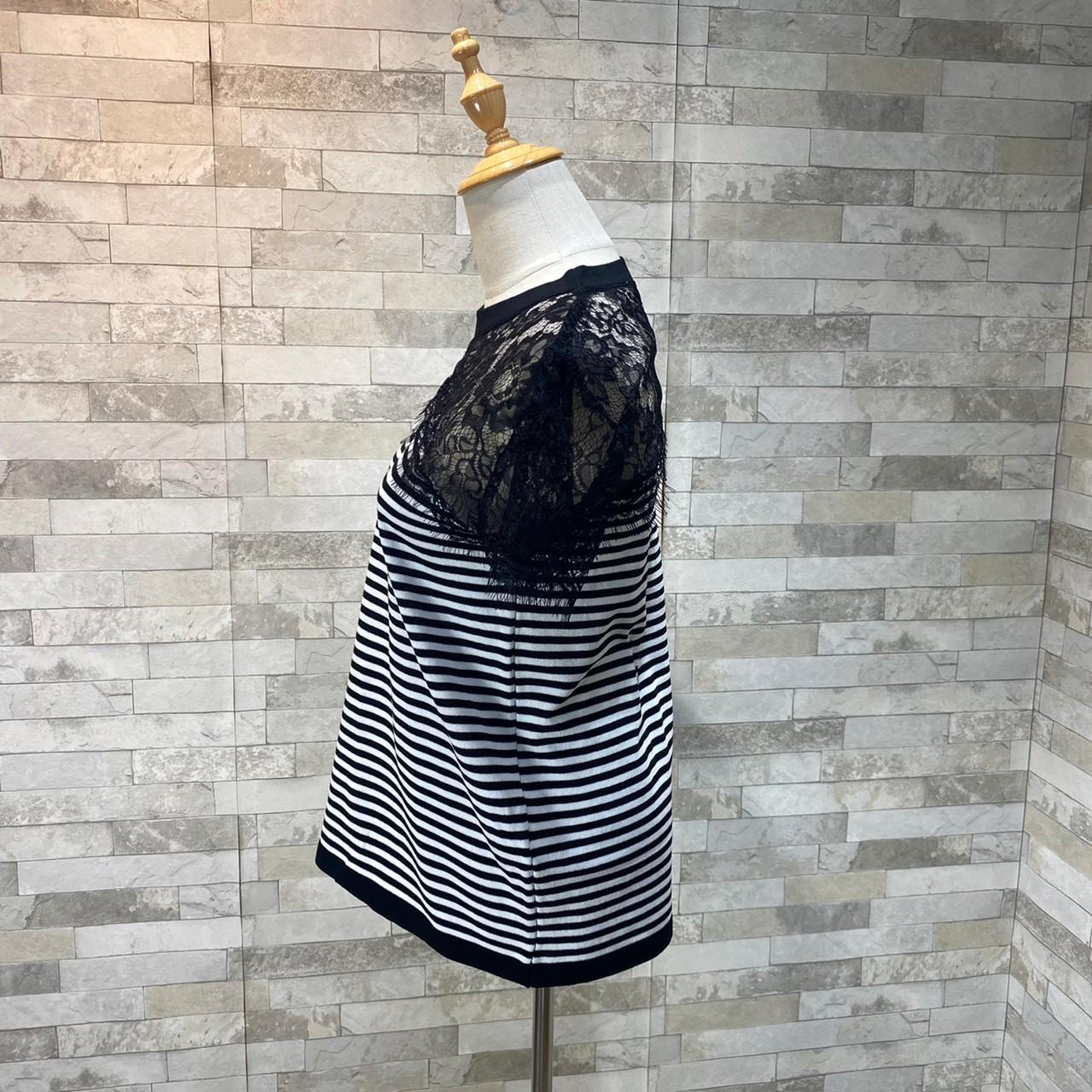 韓国 ファッション トップス Tシャツ カットソー 春 夏 カジュアル PTXK589  スカラップ レース シースルー リブ 重ね着 オルチャン シンプル 定番 セレカジの写真14枚目