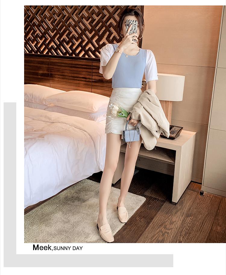 韓国 ファッション トップス ニット セーター 春 夏 カジュアル PTXK593  シアー タイト目 ジャケットインナー スリット オルチャン シンプル 定番 セレカジの写真12枚目