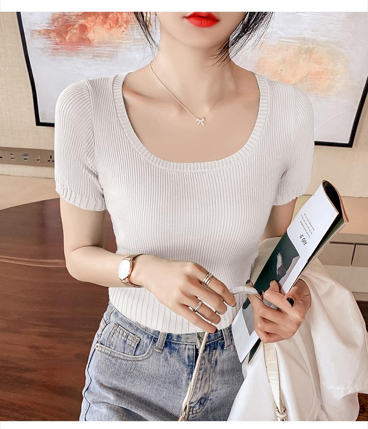 韓国 ファッション トップス ニット セーター 春 夏 カジュアル PTXK599  デコルテ見せ リブ サマーニット 着回し オルチャン シンプル 定番 セレカジの写真20枚目