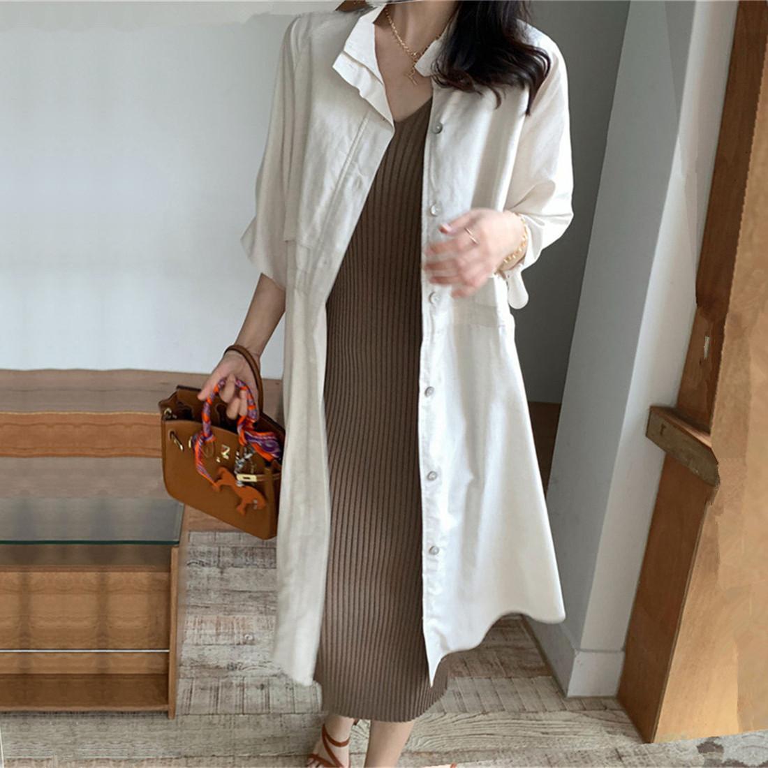 韓国 ファッション アウター コート 春 夏 カジュアル PTXK915  スタンドカラー ウエストシェイプ 羽織り ラフ オルチャン シンプル 定番 セレカジの写真2枚目