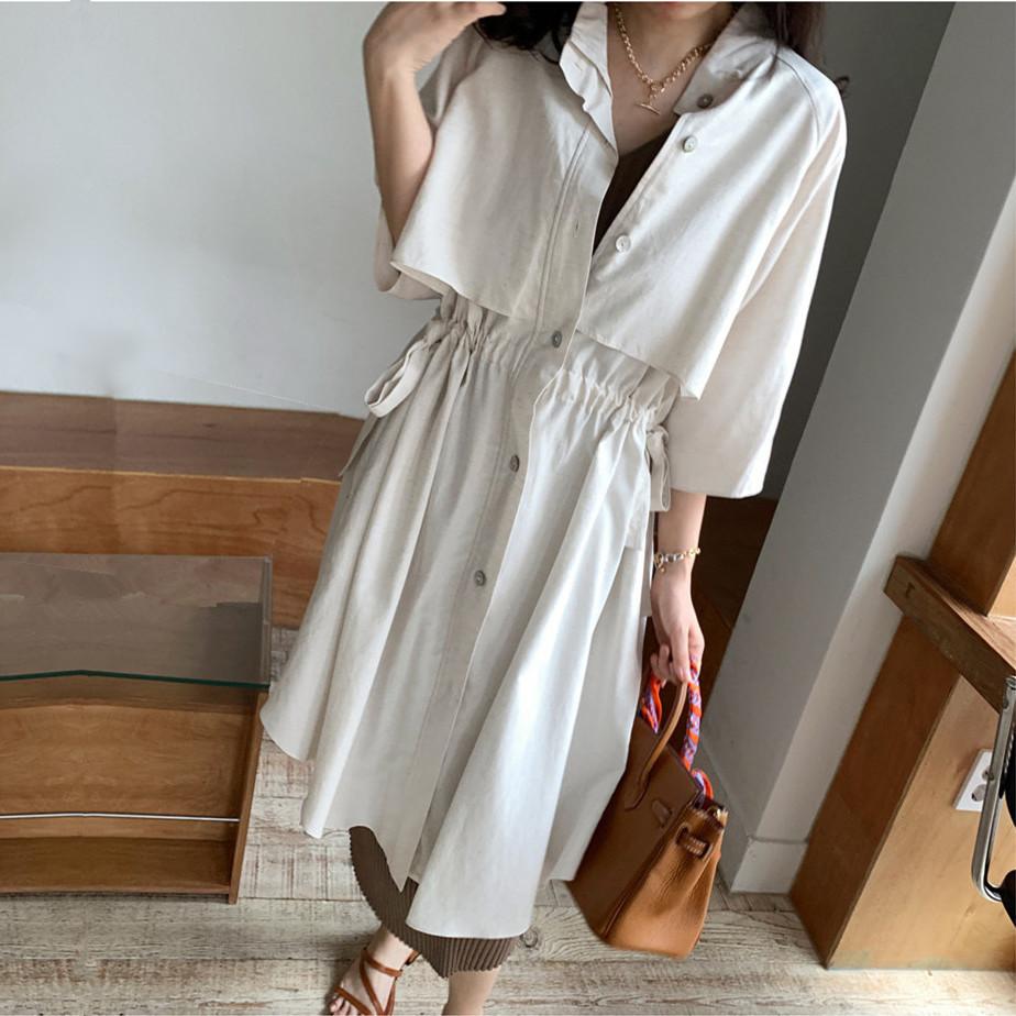 韓国 ファッション アウター コート 春 夏 カジュアル PTXK915  スタンドカラー ウエストシェイプ 羽織り ラフ オルチャン シンプル 定番 セレカジの写真3枚目
